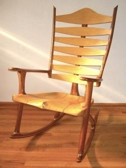The Custom Handmade Rocking Chair has a Beauty and Strength Reaching ...